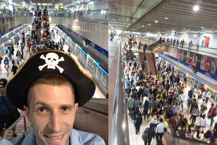 Pirát v Taipejskom metre