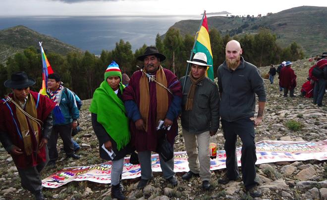 Lukáš Čech, vítanie novej éry na jazere Titicaca, Bolívia