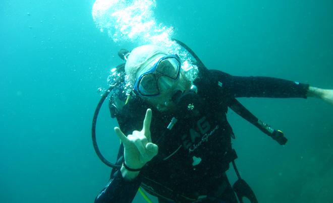 Lukáš Čech, potápanie na Galapágos