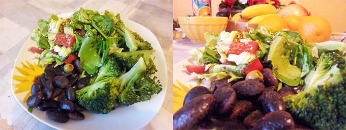 Vegánske jedlo: Fazuľa s množstvom rôznej čerstvej zeleniny