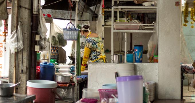 Lokálna reštaurácia v Chiang Mai v Thajsku