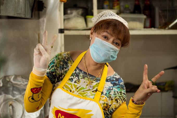 Majiteľka a hlavná kuchárka mojej obľúbenej lokálnej thajskej reštaurácie