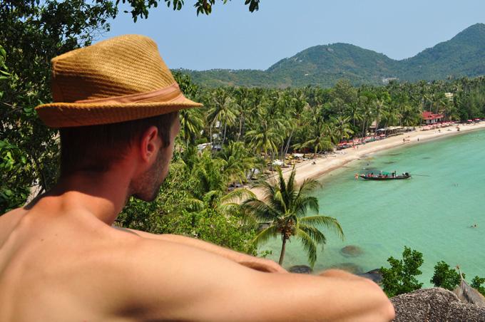 Neuveriteľný výhľad na Sairee beach na ostrove Koh Tao