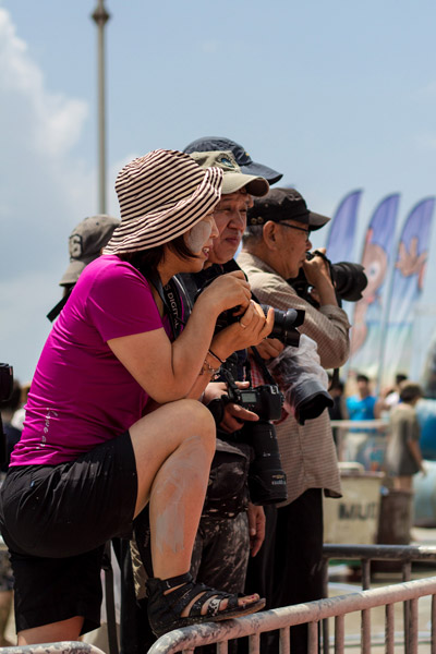 Fotografi na blatovom festivale v meste Boryoung v Kórei