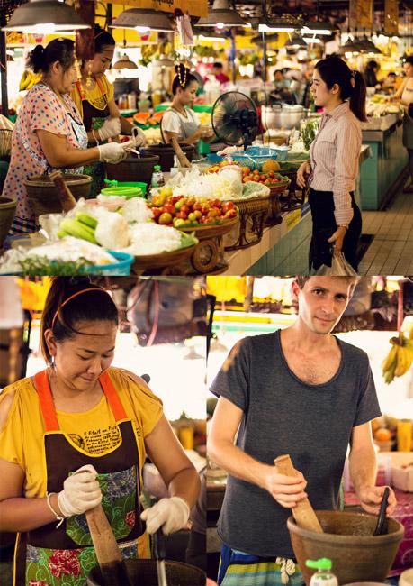 Milé predavačky na trhu v meste Chiang Mai na severe Thajska