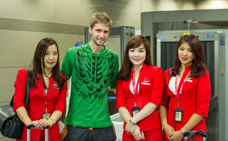 S nádhernými kórejskými letuškami
