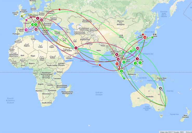 Mapa mojich ciest po svete